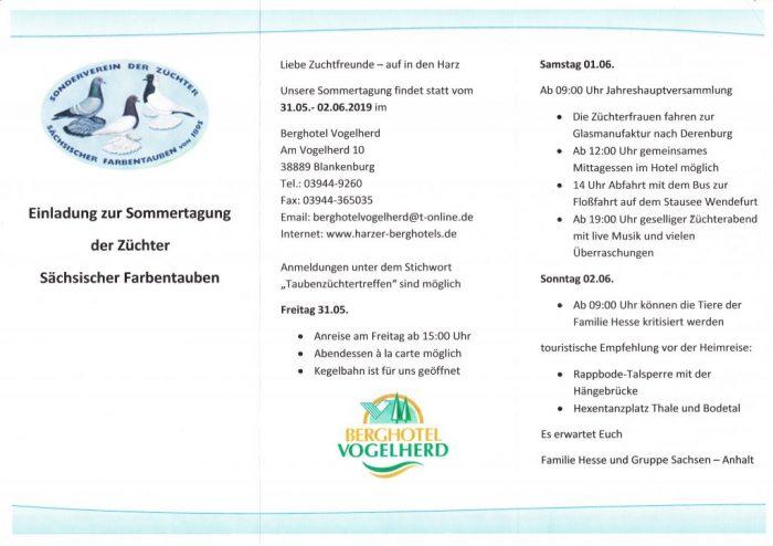 Einladung zur Sommertagung Preisliste (zum Öffnen klicken)